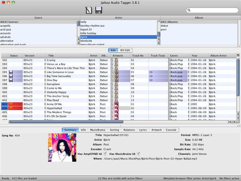 Jaikoz Tagger screenshot